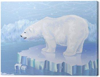Obraz na Płótnie Niedźwiedź polarny stojących na krze