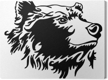 Niedźwiedź wektor tatuaż głowy