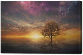 Obraz na Płótnie Nierealne drzewo w jeziorze