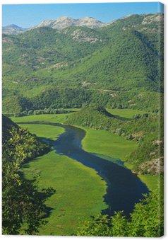 Obraz na Płótnie Niesamowity widok z Rijeka Crnojevica. Park Narodowy Jezioro Szkoderskie