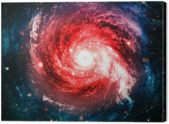 Obraz na Płótnie Niewiarygodnie piękna galaktyka spiralna gdzieś w przestrzeni kosmicznej