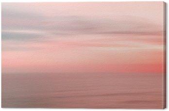 Niewyraźne zachód słońca niebo i ocean