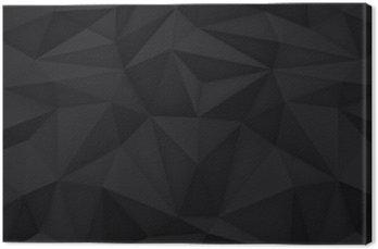 Obraz na Płótnie Niska wielokąta kształtów tła, trójkąty mozaiki, wektor projekt, kreatywne tło, szablony projektów, czarne tło