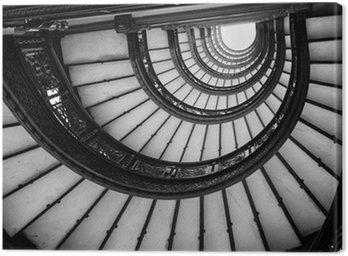 Niski kąt widzenia spiralne schody, Chicago, Cook County, illino