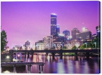 Obraz na Płótnie Noc miejskich panoramę miasta. Melbourne. Australia