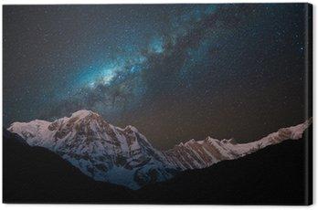 Obraz na Płótnie Noc strzał z Annapurna Seria z Drogi Mlecznej.