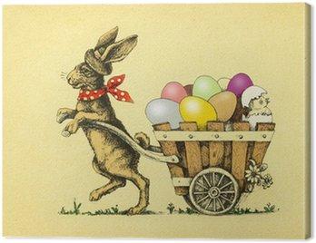 Obraz na Płótnie Nostalgic Wielkanoc kartkę z życzeniami