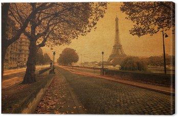 Obraz na Płótnie Nostalgiczny widok na Paryż