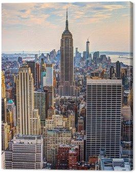 Obraz na Płótnie Nowy jork o zmierzchu
