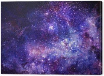 Obraz na Płótnie Obłok gazu mgławica w głębokiej przestrzeni kosmicznej