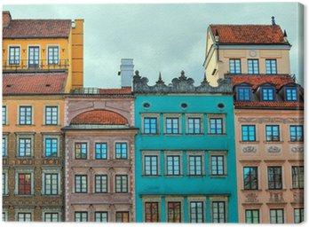 Obraz HDR starych warszawskich domów