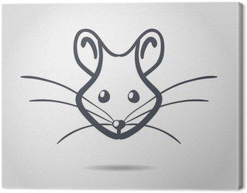 Obraz na Płótnie Obraz wektora szczur na białym tle