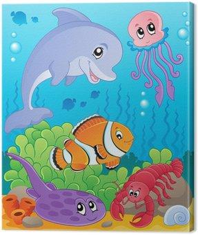 Obraz na Płótnie Obraz z podmorskiego tematu 5