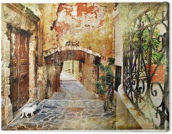 Obraz na Płótnie Obrazkowych stare uliczki grecja, kreta