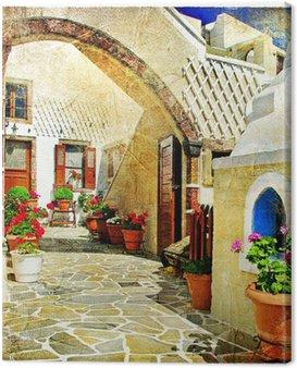 Obraz na Płótnie Obrazkowych ulice Santorini