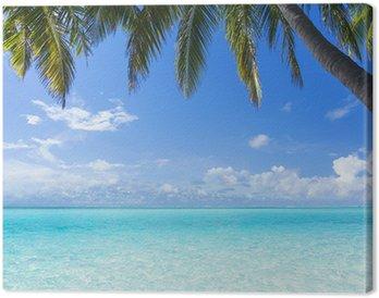 Obraz na Płótnie Ocean, palmy, raj