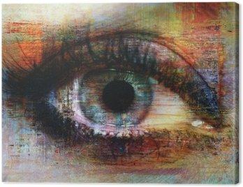 Obraz na Płótnie Oczy tekstury