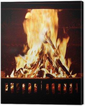 Obraz na Płótnie Ogień płonący w kominku