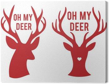 Obraz na Płótnie Oh my głowy jelenia, wektor
