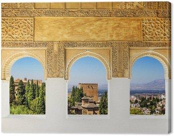 Obraz na Płótnie Okna w Alhambra, Granada, Hiszpania.