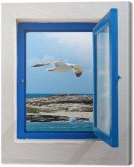 Obraz na Płótnie Okno na Morzu