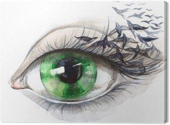 Obraz na Płótnie Oko z ptakami (seria C)