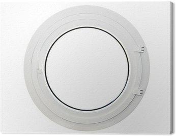 Obraz na Płótnie Okrągłe okno, iluminator, biały