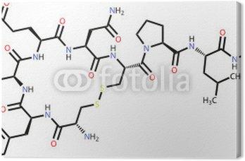 "Obraz na Płótnie Oksytocyna ""hormon miłości"" wzór strukturalny"