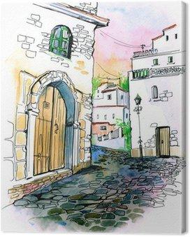 Obraz na Płótnie Old city street