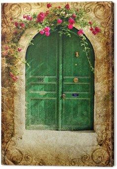 Obraz na Płótnie Old Greek drzwi - vintage serii