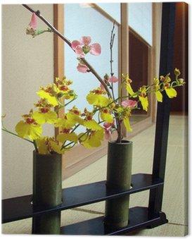 Obraz na Płótnie Oncidium orchidea z ikebany