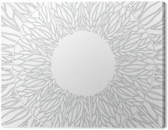 Obraz na Płótnie Ornament Circle, ozdobnych koronek okrągłe. Ilustracji wektorowych.