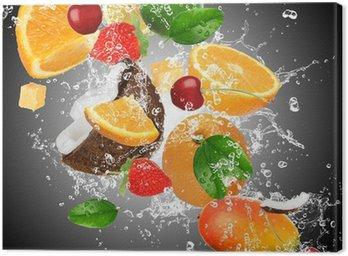 Obraz na Płótnie Owoce z zalewaniem