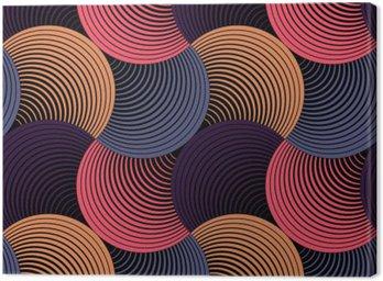 Obraz na Płótnie Ozdobny płatki siatki geometryczne, abstrakcyjne wektor powtarzalne