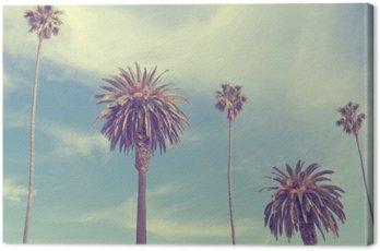 Obraz na Płótnie Palmy na plaży Santa Monica.