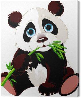 Obraz na Płótnie Panda jedzenia bambusa