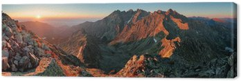 Obraz na Płótnie Panorama górska krajobraz jesienią