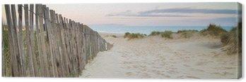 Obraz na Płótnie Panorama krajobraz systemu wydmy na plaży o wschodzie słońca