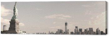 Obraz na Płótnie Panorama na Manhattanie w Nowym Jorku - sepia obraz