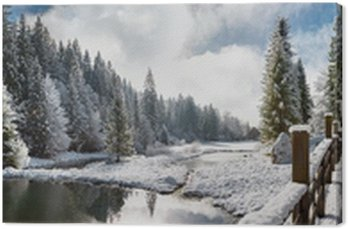 Panorama zimowa utrom w Carpathia