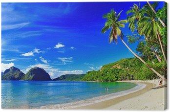 Obraz na Płótnie Panoramiczny piękna plaża scenerii - el-Nido, Palawan