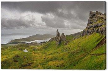 Obraz na Płótnie Panoramiczny widok na Old Man of Storr górach, Highlands