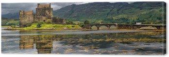 Obraz na Płótnie Panoramiczny z Eilean Donan Castle, Highlands, Szkocja