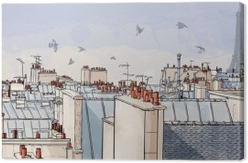 Obraz na Płótnie Paris france - dachy
