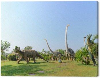 Obraz na Płótnie Parki publiczne posągów i dinozaurów