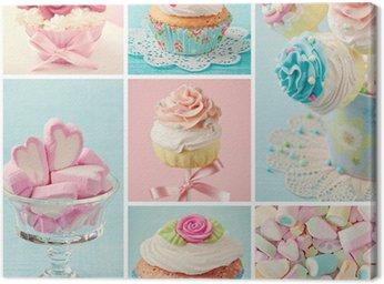 Obraz na Płótnie Pastelowe kolorowe słodycze