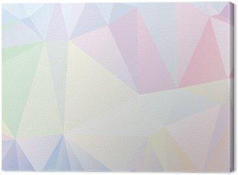 Obraz na Płótnie Pastelowe wielokąta geometryczne