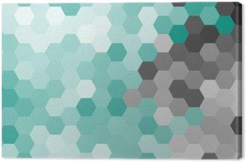Obraz na Płótnie Pastelowy niebieski geometryczny wzór sześciokąt bez konturu.