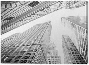 Obraz na Płótnie Patrząc na drapacze chmur na Manhattanie w Nowym Jorku, USA
