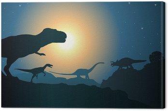 Obraz na Płótnie Paysage_Dinosaure_2